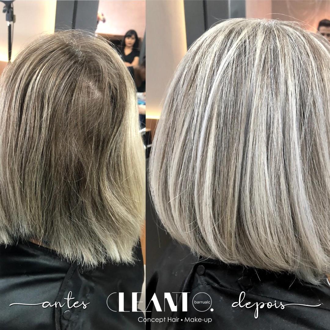 Antes e depois da cor nova