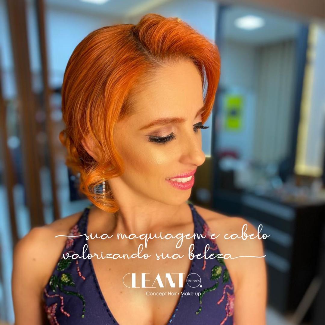 Sua maquiagem e cabelo valorizando sua beleza