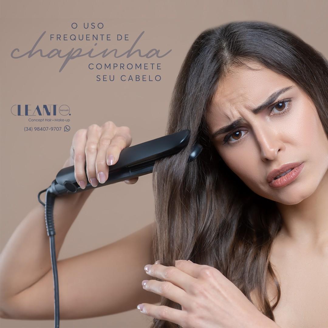 O uso Frequente de chapinha compromete seu cabelo